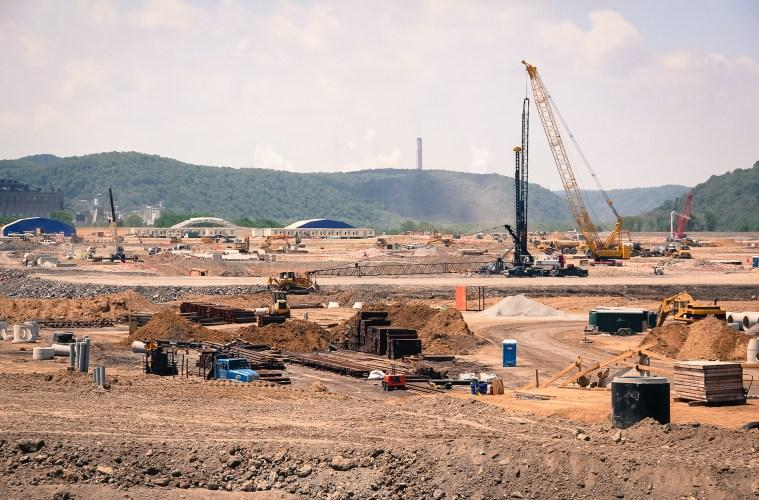 Construction of Shell's ethane cracker in Beaver County.
