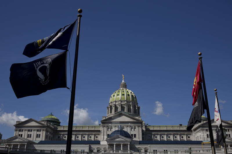 The Pennsylvania State Capitol building in Harrisburg on Aug. 21, 2015.