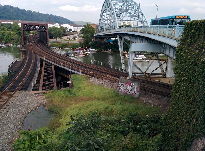 The Jerome Street Bridge spans the Youghiogheny River in McKeesport on Sept. 14, 2016.