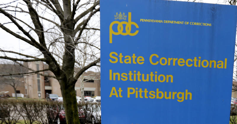 This Jan. 26, 2017, shows a sign outside the entrance to the State Correctional Institution at Pittsburgh before it's closure.
