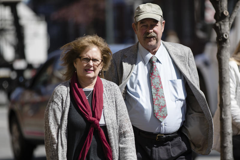 Eugene and Deborah Frien, the parents of Eric Frein, walk to the Chester County Justice Center in West Chester, Pa., Thursday, March 9, 2017. Eric Frein was convicted of murder and sentenced to death for killing a Pennsylvania State Police trooper.