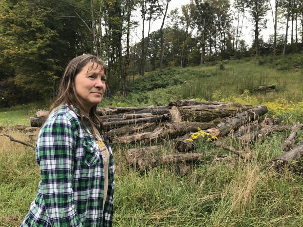 Hundreds of Cathy Holleran's maple trees were cut down through the use of eminent domain for an interstate natural gas pipeline that's now stalled.