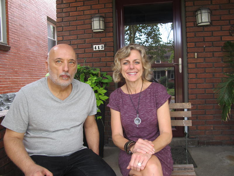 Collaborators Frank Ferraro and Adrienne Wehr.