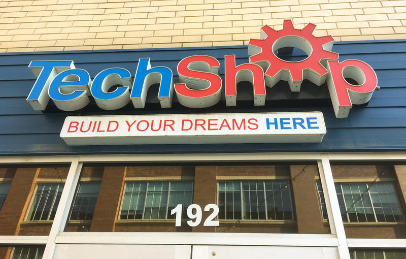 Tech Shop Pittsburgh's storefront in Bakery Square.