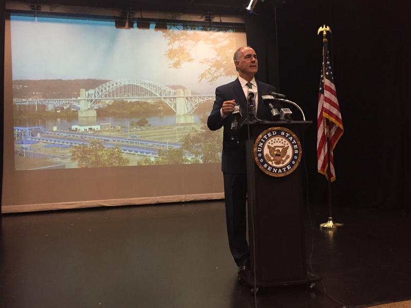 U.S. Senator Bob Casey speaks out against the Graham-Cassidy bill in McKees Rocks on Thursday, Sept. 21, 2017.