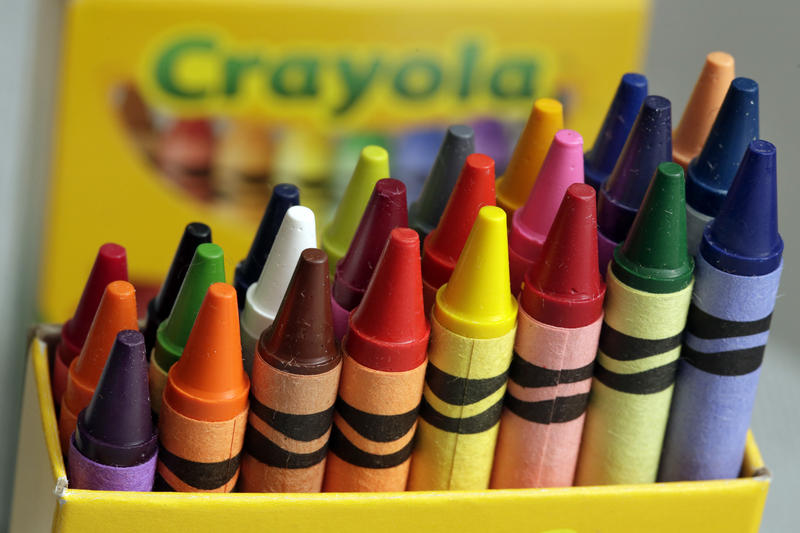 A 24-count box of Crayola crayons are shown Tuesday, March 28, 2017. On Thursday, the company announced the name of a new color.