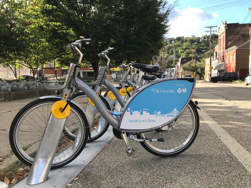 There are 51 Healthy Ride stations throughout the city of Pittsburgh. Port Authority riders who use a ConnectCard can now unlock and use the bikes for 15-minute trips at no cost.
