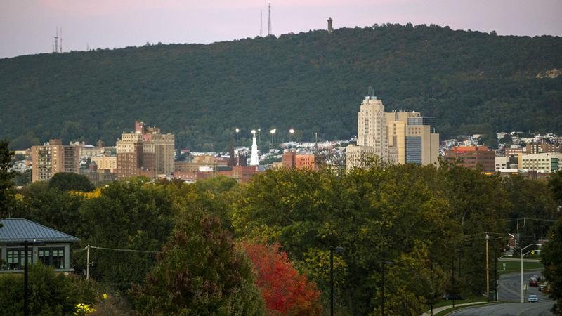 A view of Reading, Pa., from Museum Road. The city is carved out of the 6th U.S. Congressional District and included with Lancaster and Chester counties.