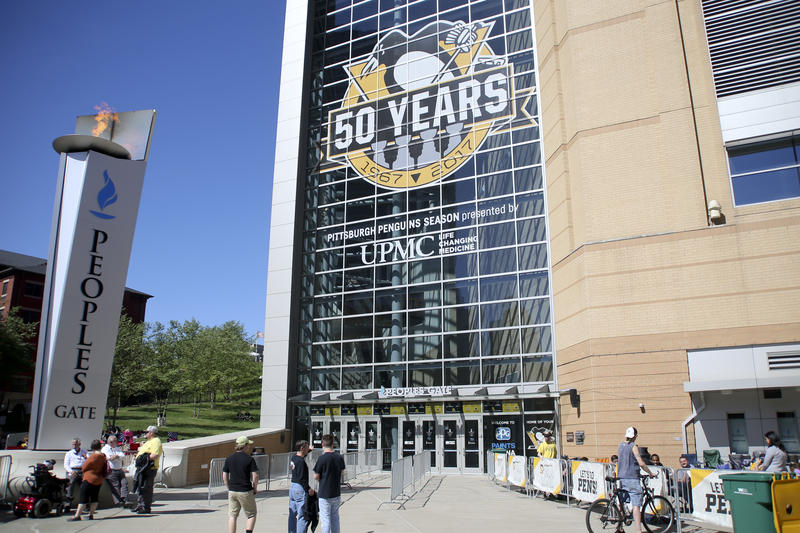 The Penguins must begin development on the first parcel at the former Civic Arena site by Oct. 22. The team was given exclusive development rights to the land in an agreement that also built a new stadium, now called PPG Paints Arena.