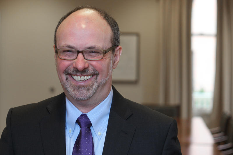 Dr. David Finegold becomes the 19th president of Chatham University this week. He's the first male to serve since the school began accepting male undergraduate students in 2014. He replaces Dr. Esther Barazzone, who served the school for 24 years.