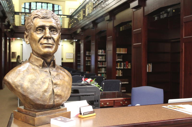 A bust of John Henry Newman in the front entrance of the National Institute for Newman Studies in Pittsburgh.