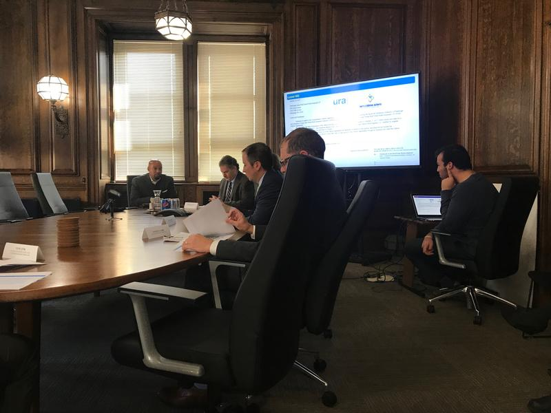 At a special meeting of the Urban Redevelopment Authority Thursday, Oct. 26, 2017, the board voted to again extend the Penguins development deadline