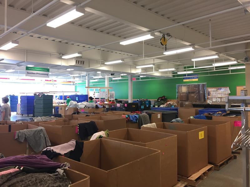Inside the Goodwill Processing Center in Lawrenceville on Tuesday, Oct. 3, 2017.