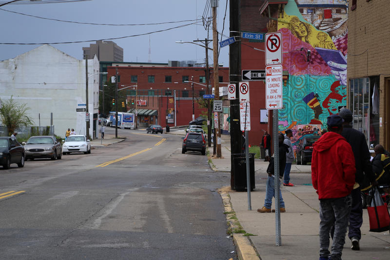 Centre Avenue in the Hill District on Monday, Oct. 23, 2017.