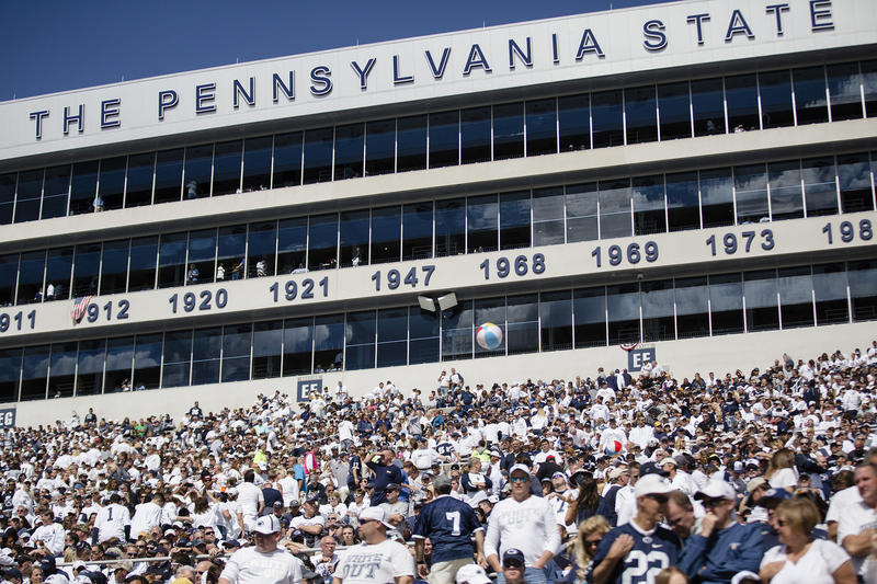 Fans attend the Penn State-University of Pittsburgh football game on Sept. 9, 2017 in State College, Pa.