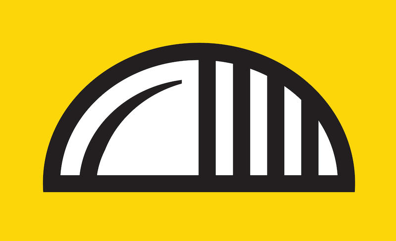 """Paul Schifino sent in this rendering of a new Pittsburgh flag called """"Is it a bridge? Is it a pierogie? The answer is yes."""" Submissions were sent to the online blog Pittsburgh Orbit as part of their flag design competition."""