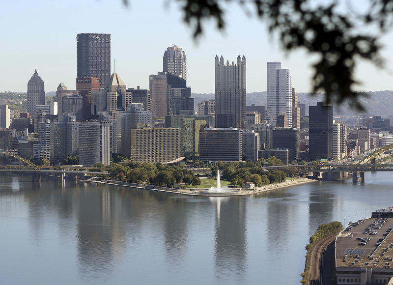 The Pittsburgh skyline is seen from the West End Overlook, a city park, Wednesday, Oct. 18, 2017.