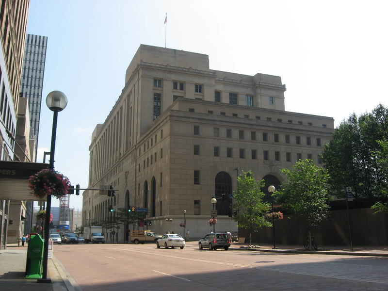 The U.S. Post Office and Courthouse in downtown Pittsburgh. Jurors are still deliberating in the case against two Pittsburgh police officers accused of using excessive force against then-21-year-old Leon Ford in a 2012 incident.