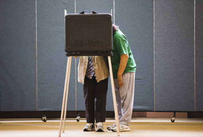 Voter turnout soared Tuesday as Americans cast their ballots in the 2018 midterm elections.