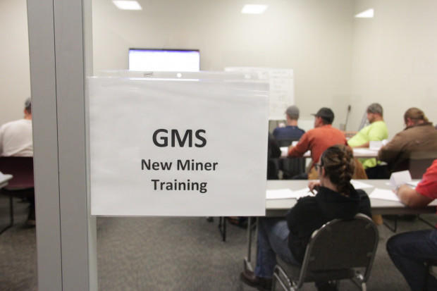 A miner training program run by GMS Mine Repair & Maintenence, a coal mining contractor, in Waynesburg, Pa.