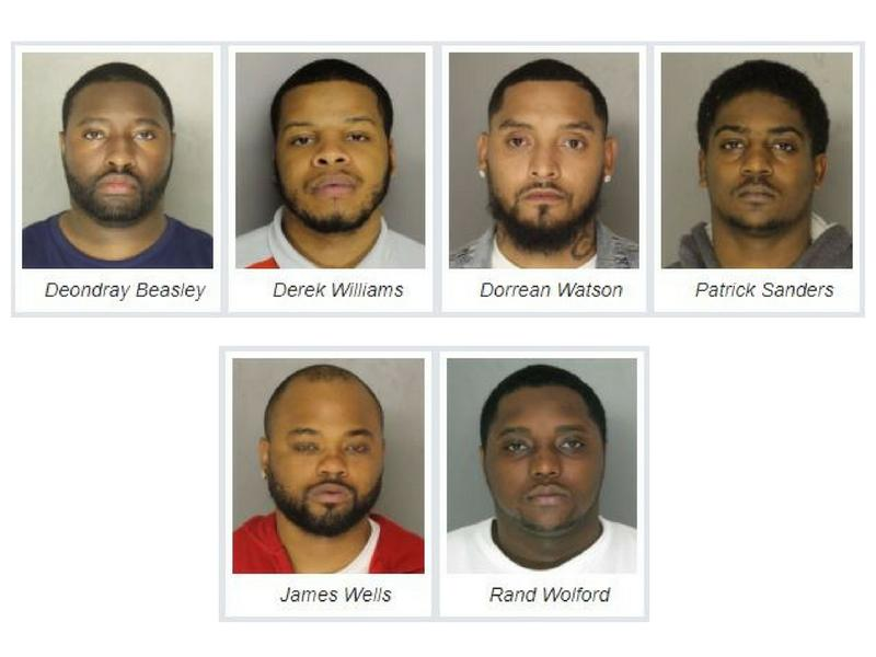 Six men were arrested for their alleged involvement with an opioid drug ring in Allegheny County.