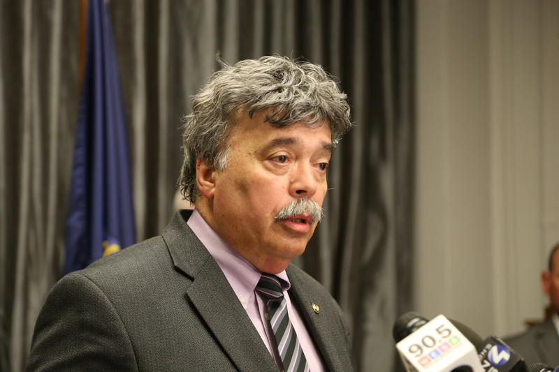 Rep. Dom Costa speaking at a press conference on March 27, 2017.