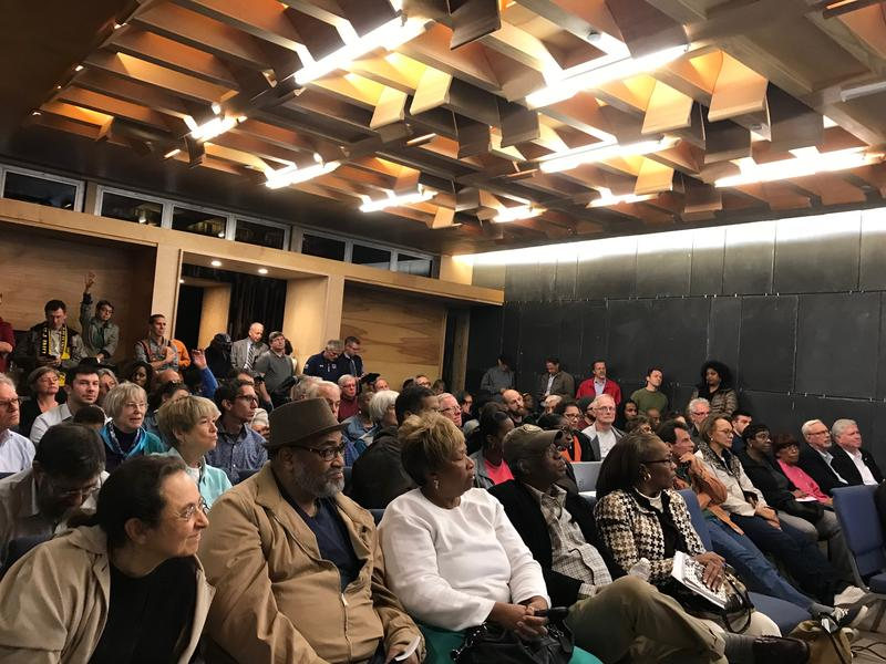 A standing room only crowd filled a community room at Construction Junction on Thursday, Nov. 2 to weigh in on the future of a former industrial site in Point Breeze North.