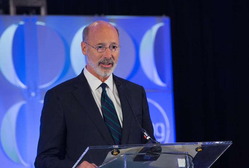 Gov. Tom Wolf speaking at a health conference in Danville, Pa.