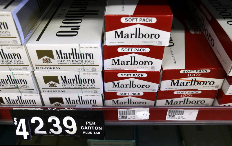 Pictured are cartons of cigarettes are on display at a smoke shop in Missouri. Pennsylvania is planning to borrow against the Tobacco Fund, used to fund smoking cessation programs, to finish the 2018 budget.