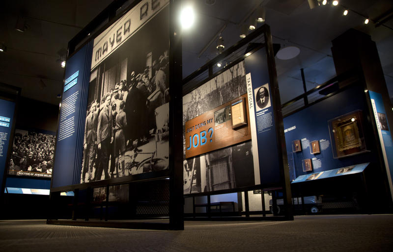 Shown is an exhibit at the United States Holocaust Memorial Museum in Washington, on April 25, 2013.