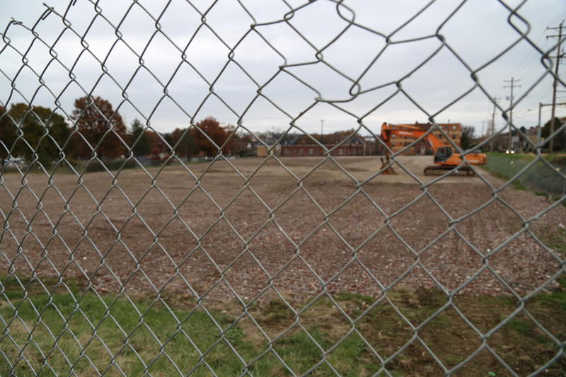 The site of the former Penn Plaza apartments has been cleared.
