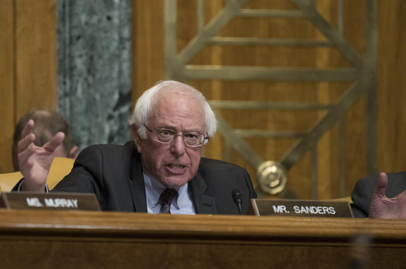 Sen. Bernie Sanders speaks during a Senate Budget Committee hearing on Nov. 28, 2017.