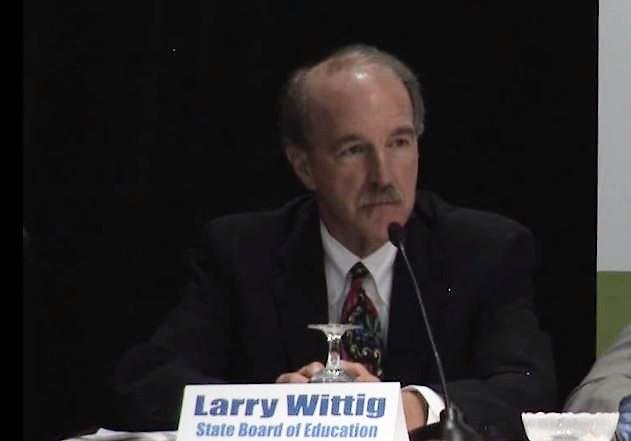 Larry Wittig, the outgoing head of the Pennsylvania Board of Education, at a 2013 panel about Common Core and Keystone exams. Wittig has been accused of having sexual relations with underage women.