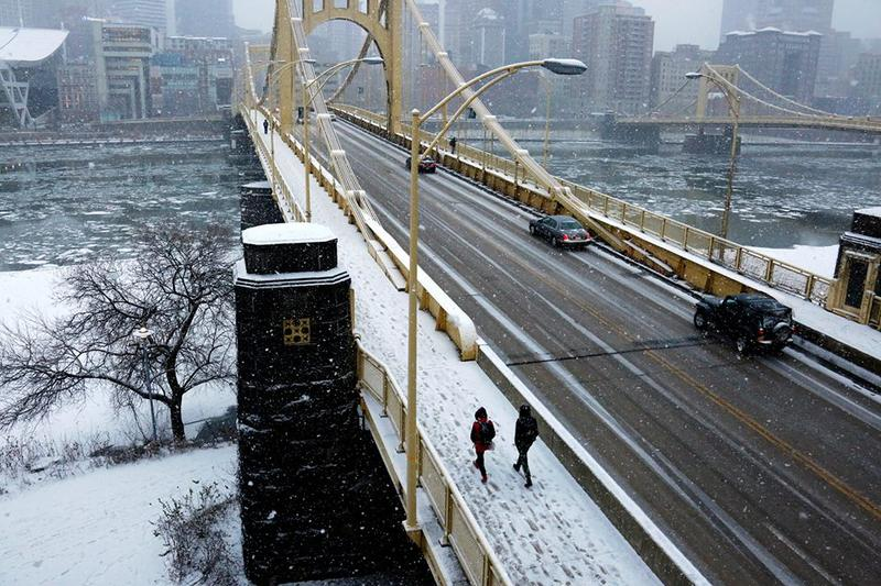 As much as five inches of snow is expected to hit Pittsburgh on Tuesday, March 20, 2018, just before Spring officially begins.