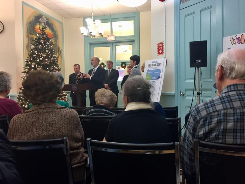 Lawrenceville-area seniors listen to Governor Tom Wolf announce Community HealthChoices at the Stephen Foster Community Center on Thursday, Dec. 7, 2017.