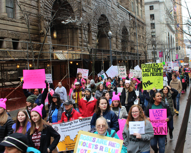 The second annual Women's March began on Forbes Avenue, following several small speeches from candidates running for office across Pennsylvania this upcoming election cycle.