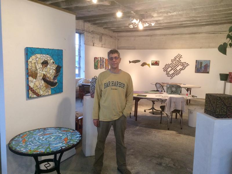 "Steven ""Stevo"" Sadvary stands in his Squirrel Hill studio."