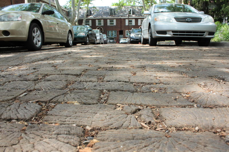 Roslyn Place is made up of 26,000 wooden blocks. While the street itself received a historic designation last May, the homes did not.