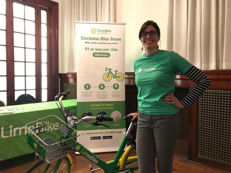 Maggie Gendron is director of strategic development for LimeBike, a dockless bikeshare company launched in 2017.