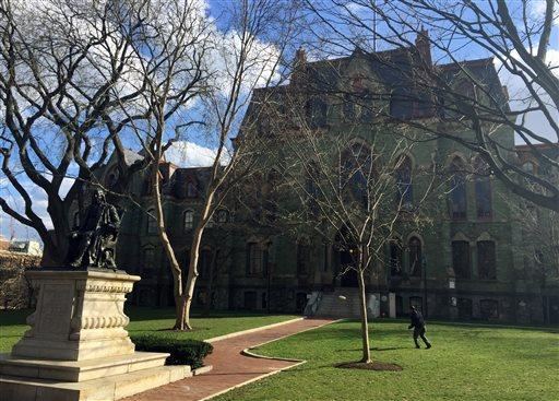 Pictured is the University of Pennsylvania campus in Philadelphia. In 2014, freshman Madison Holleran took her own life.