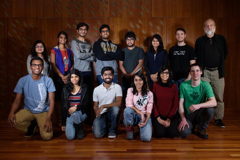 "The members of ""Tartan"", Carnegie Mellon University's team in the Amazon Alexa Prize challenge."