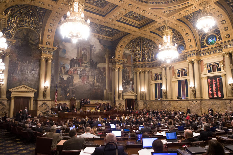 The Pennsylvania State General Assembly in Harrisburg, Pa. The new boundaries of the state's congressional map could have a positive influence on Democrats.