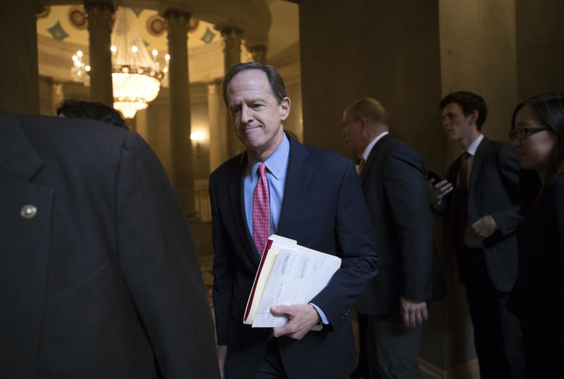 "Toomey called for ""improving our federal background system"" for gun sales on Facebook Thurs., Feb. 15, 2018."