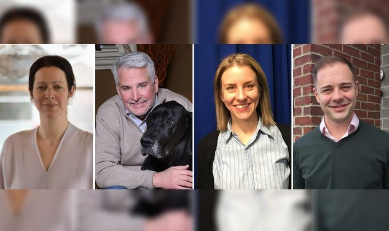 From left to right: Sonja Finn (D), Marty Healey (I), Erika Strassburger (I) and Rennick Remley (R).