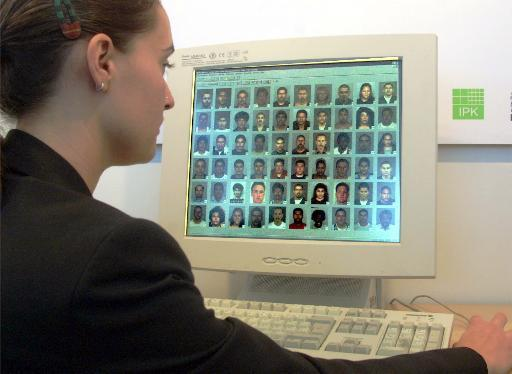Researchers at the University of Pittsburgh are looking at how facial features may be related to genetic markers. Pictured is a facial recognition program used to improve security standard in Germany.