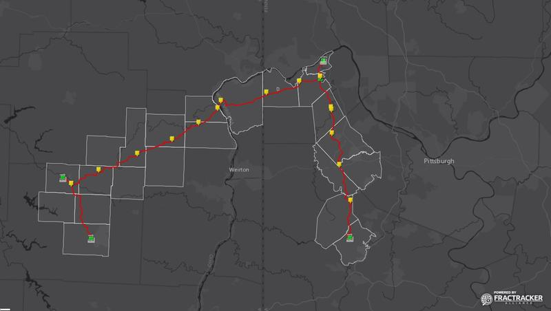 Shell's Falcon Ethane Pipeline map.
