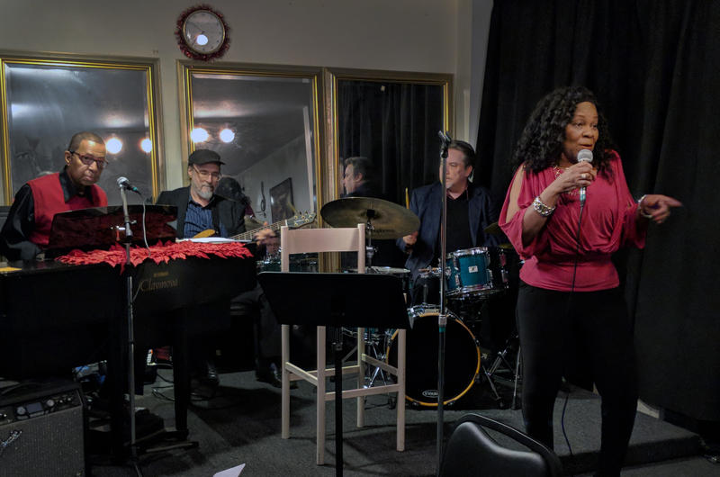 """Performers play at the """"Jazz on the Loading Dock"""" series at the Afro American Music Institute in Homewood."""