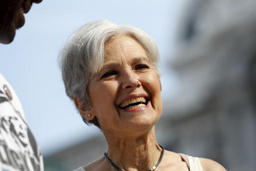 Dr. Jill Stein, former Green Party presidential nominee, arrives at a rally in Philadelphia, Wednesday, July 27, 2016. A federal judge recently made changes to the signature requirement for third party candidates to qualify for the ballot.