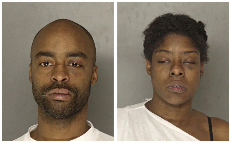 Martell Smith, left, is charged with three counts of homicide, along with arson and drug charges, following a house fire that killed three. Tiasia Malloy was charged with aggravated assault on an office in the same incident.