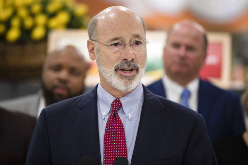 Gov. Tom Wolf speaks at a news conference at The Fresh Grocer in Philadelphia, Wednesday, Jan. 17, 2018.